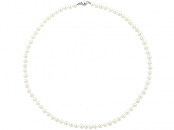 Silver necklace with pearls