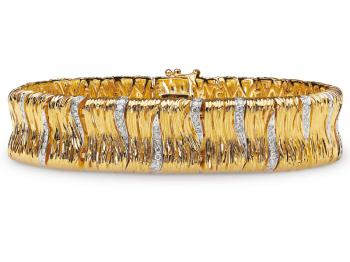Yellow gold bracelet with brilliants