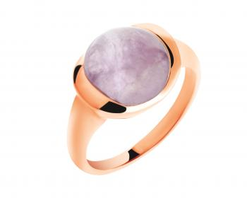Brass ring with amethyst