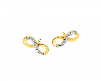 Yellow gold earrings with diamonds