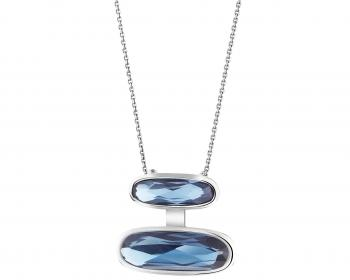 Stainless steel pendant with glass