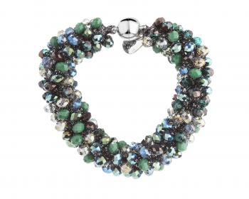 Bracelet with glass