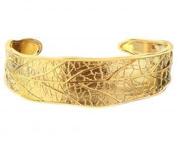 Gold plated bronze bangle