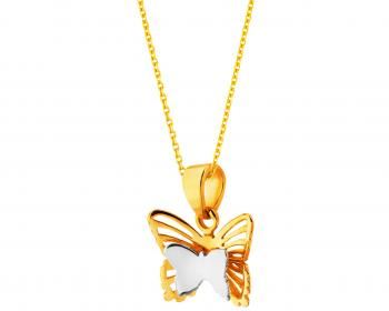Two tone gold pendant