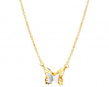 Two tone gold necklace