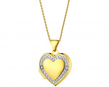 Yellow gold diamond locket