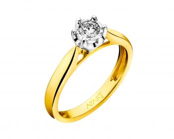 Two tone brilliant diamond ring