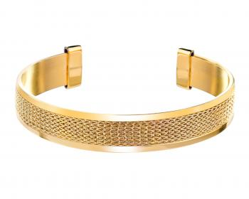 Gold plated brass bangle