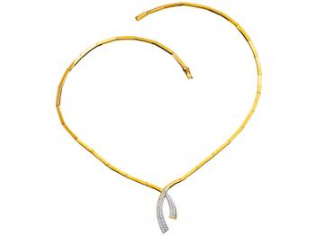 Yellow gold necklace with brilliants