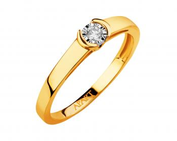Yellow & white gold brilliant cut diamond ring