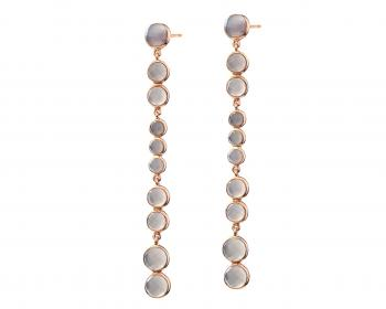 Gold plated Brass and Agate drop earrings