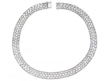 White gold necklace with brilliants