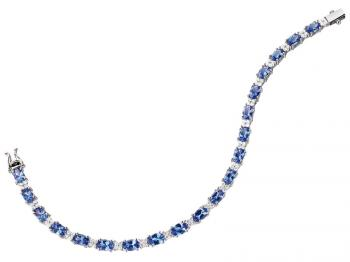 White gold bracelet with brilliants and tanzanites