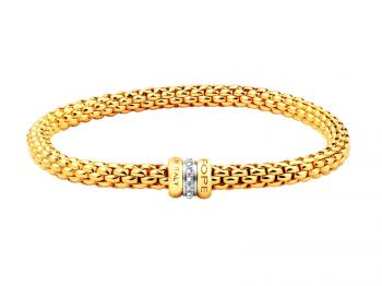 Yellow and rose gold bracelet with brilliants
