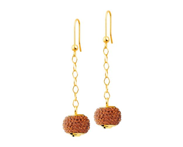 Gold bead earrings - set