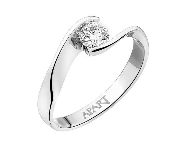 White gold ring with brilliant