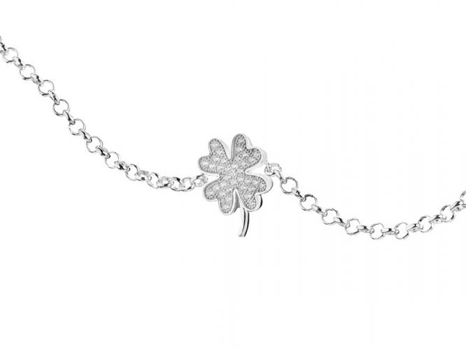 Silver bracelet with cubic zirconias