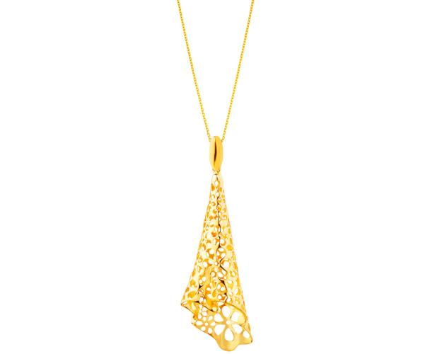 Gold-plated brass pendant