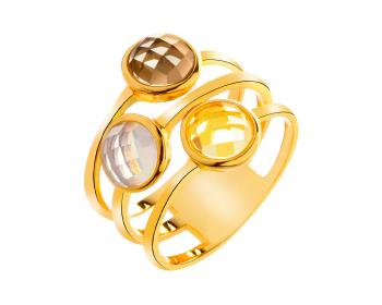 Brass ring with glass