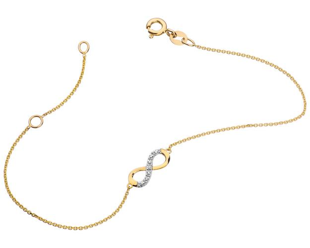 Yellow gold bracelet with diamond