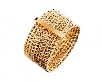 Gold plated bronze ring