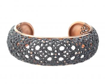 Stainless Steel & Mineral Powder Coating Bangle