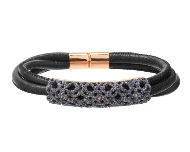 Stainless Steel & Mineral Powder Coating Bracelet