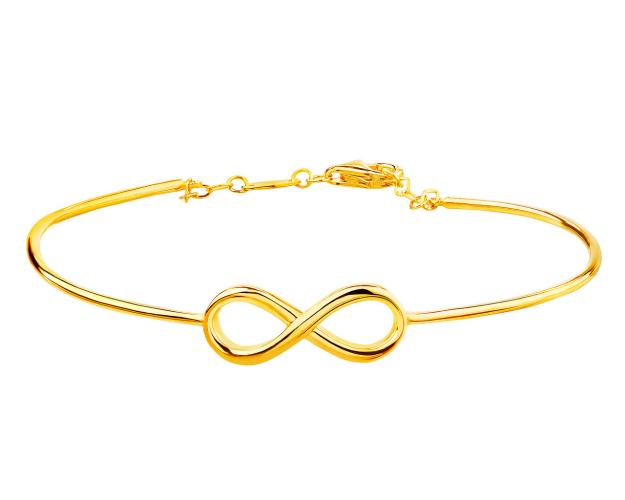 Yellow gold bangle