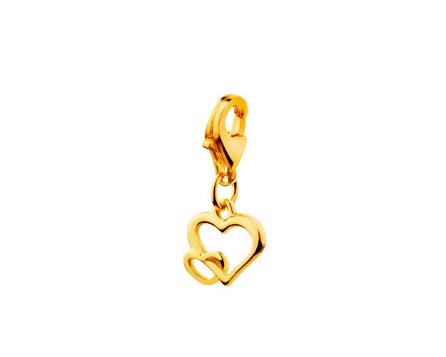 Yellow gold pendant - charms