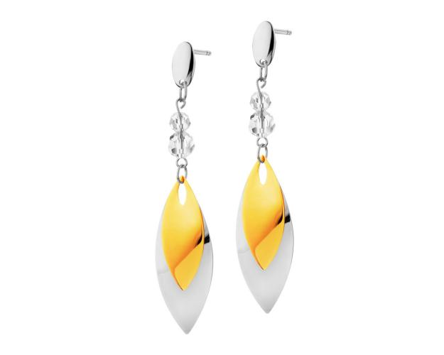 Stainless steel crystal earrings