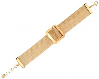 Gold plated brass bracelet