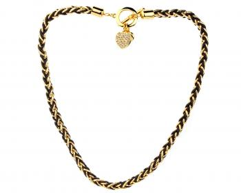 Gold plated necklace with crystals