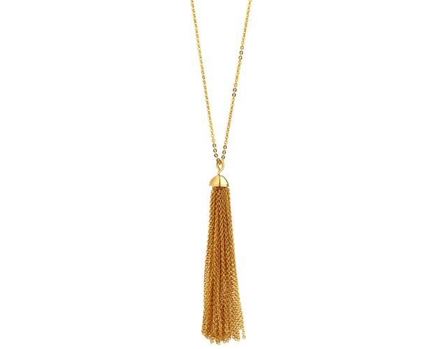 Gold plated brass necklace