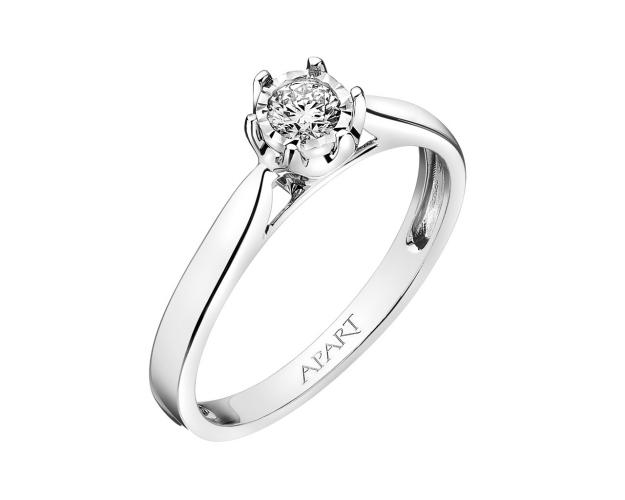 White gold brilliant diamond ring