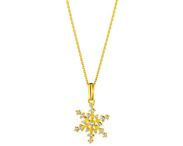 9ct Yellow Gold Pendant with Cubic Zirconia