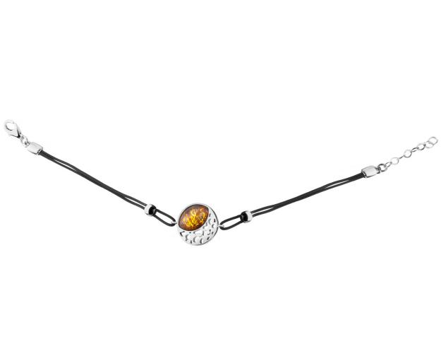Sterling silver bracelet with amber