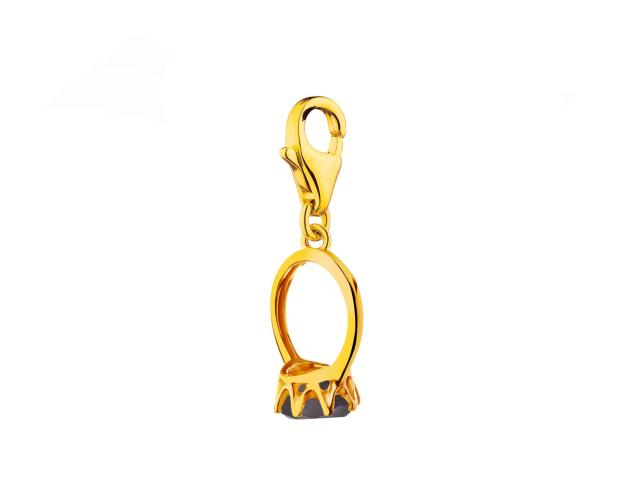 8ct Yellow Gold Pendant with Synthetic Sapphire