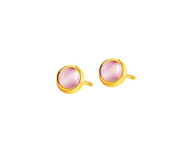 8ct Yellow Gold Earrings with Glass