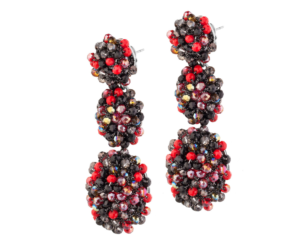 product sylca hook black jewellery and earrings designs double white beaded