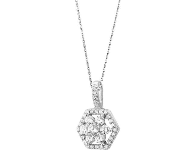Sterling silver pendant with cubic zirconia