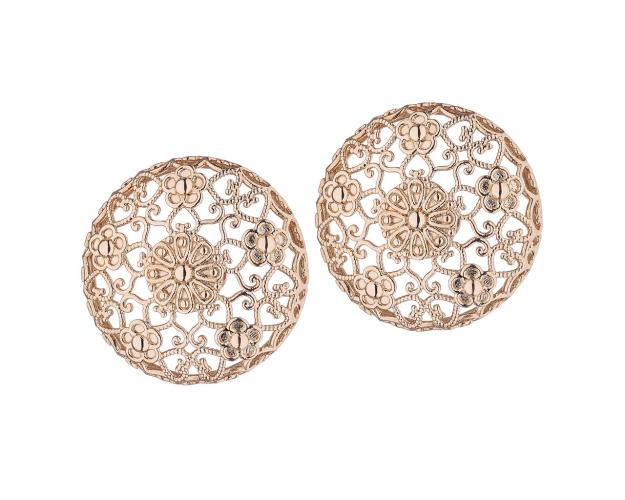 Gold plated brass stud earrings