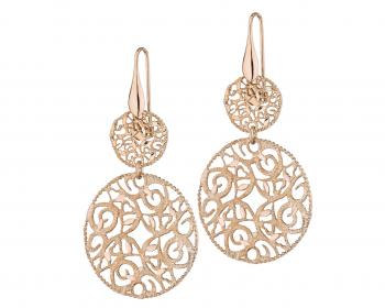 Gold plated bronze drop earrings