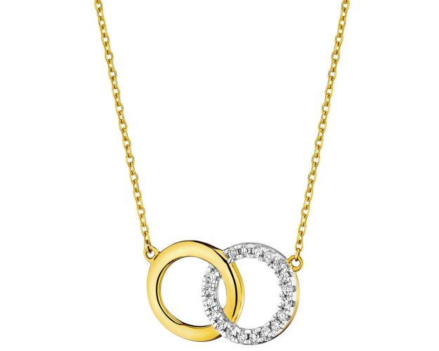 9ct Yellow Gold Necklace with Diamonds