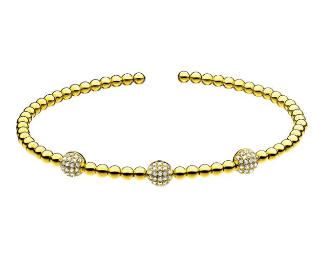 14ct Yellow Gold Bracelet with Diamonds