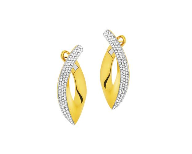 18ct Yellow Gold Earrings with Diamonds