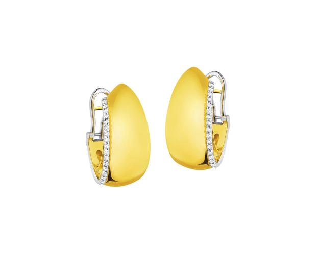 18ct Yellow Gold, White Gold Earrings with Diamonds