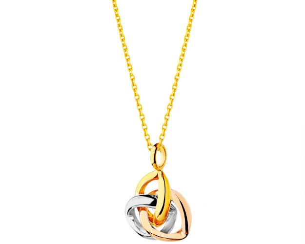 9ct Yellow Gold, White Gold, Pink Gold Pendant