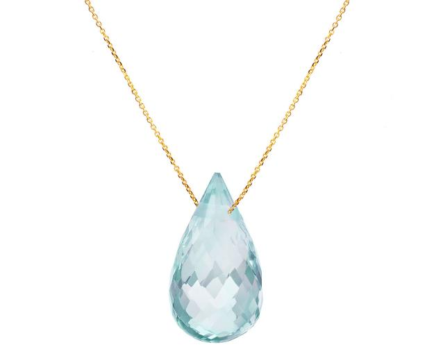 8ct Yellow Gold Necklace with Topaz