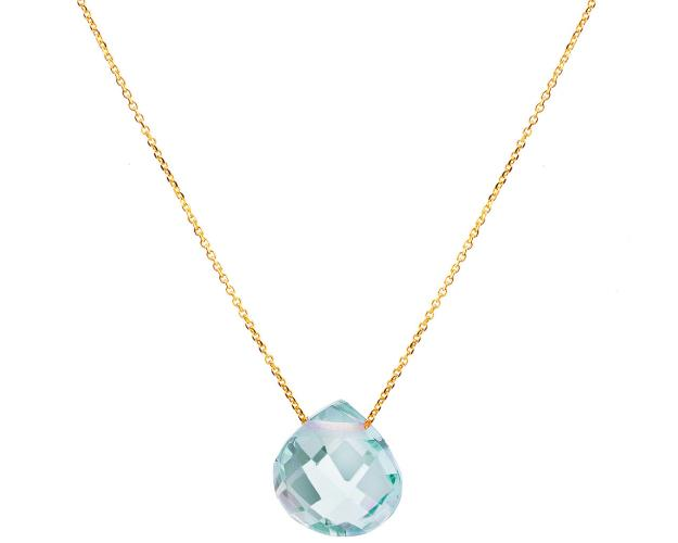 14ct Yellow Gold Necklace with Topaz