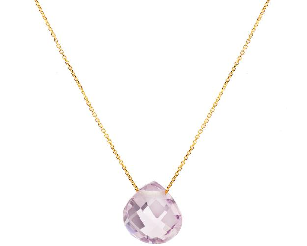 14ct Yellow Gold Necklace with Amethyst